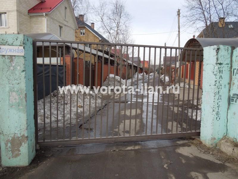 Ворота откатные_СНТ Гавриково_ул. Дружная_вид снаружи