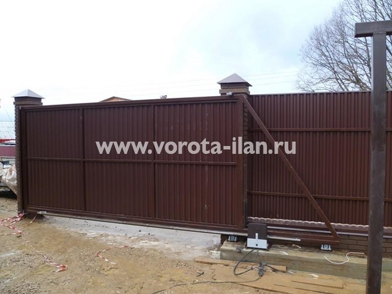 МО_Серпуховский район_деревня  Костино_откатные ворота автоматические_4