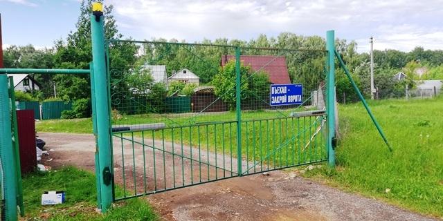 МО_Подольский район_СНТ РОДНЕВО_автоматизация распашных ворот заказчика_фото 1