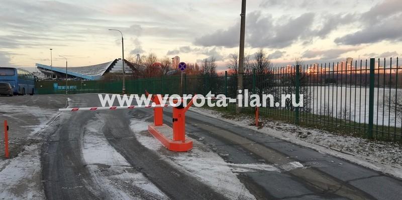 Завершённый в ноябре 2018 года объект - г. Москва, ул. Крылатская, д. 10, объект Велотрек, поставка и установка 2 подъёмных шлагбаумов CAME G3750 со стойками для считывателей и индукционной петлёй_5