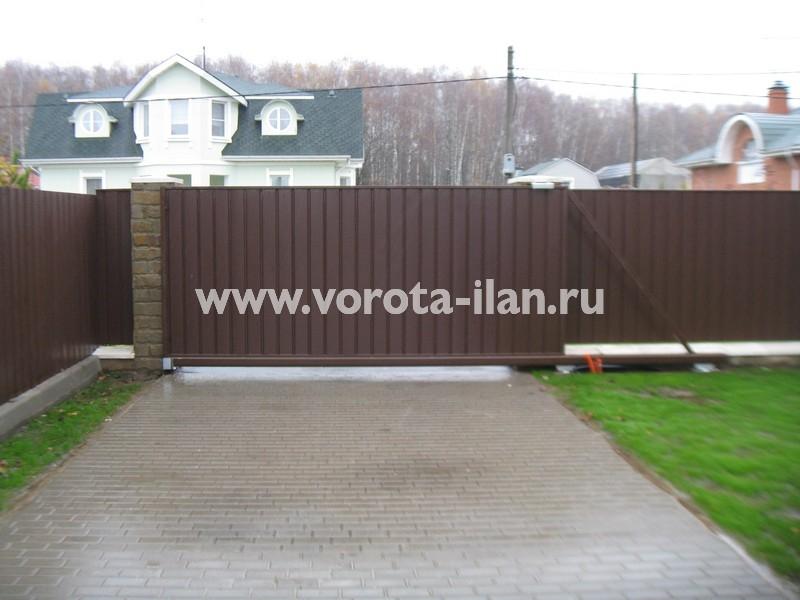 Ворота откатные Жостово_фото 1