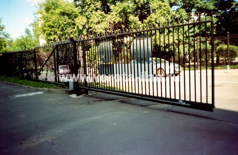 Ворота откатные прозрачные_фото 2