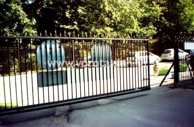 Ворота откатные прозрачные_фото 1