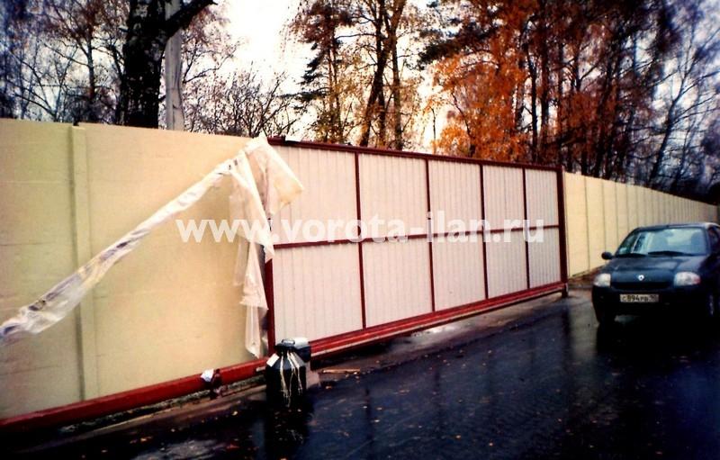 Ворота откатные_монтаж