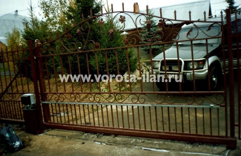 Ворота откатные с элементами ковки_фото 3