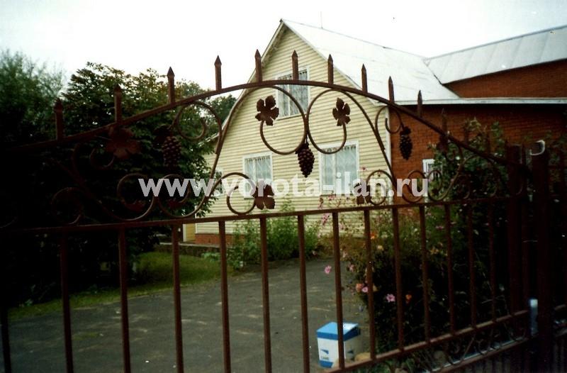 Ворота откатные с элементами ковки_фото 2