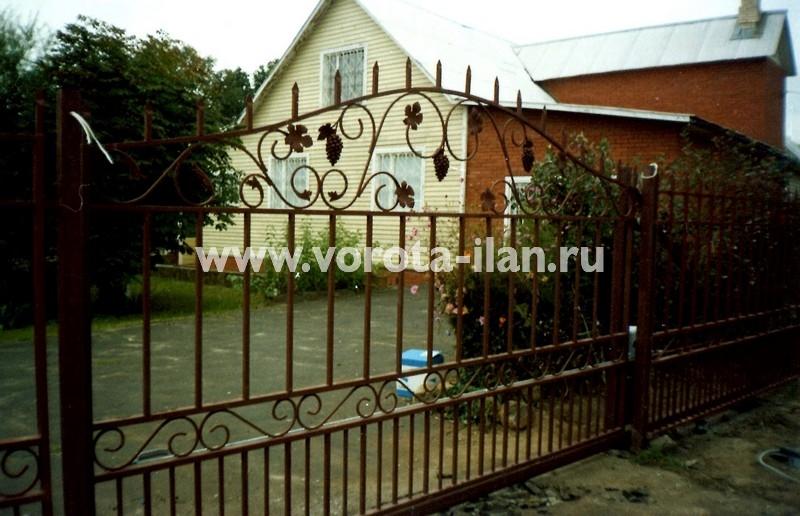 Ворота откатные с элементами ковки_фото 1