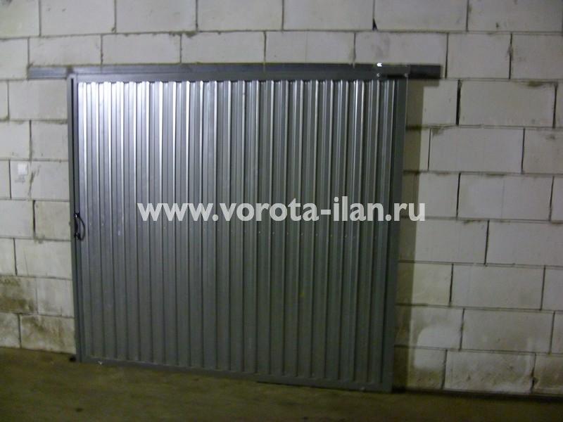Ворота откатные_серебристые_фото 2