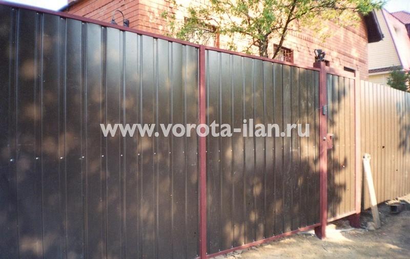 Ворота распашные_дачные