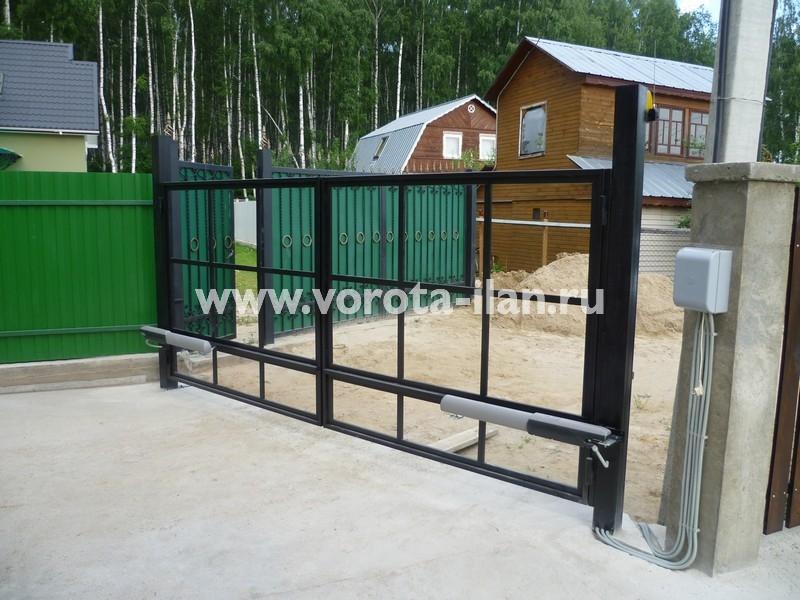 Ворота распашные_каркас ворот_фото 1