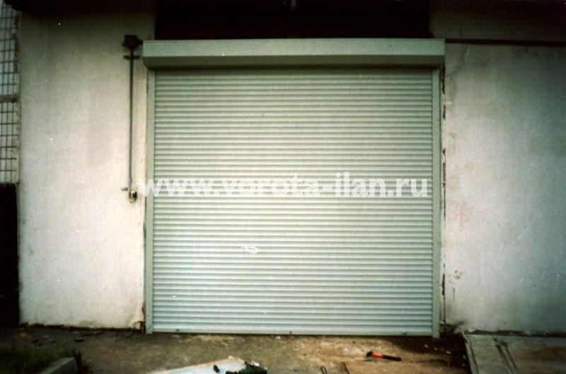 Рольворота гаражные серые_фото 1
