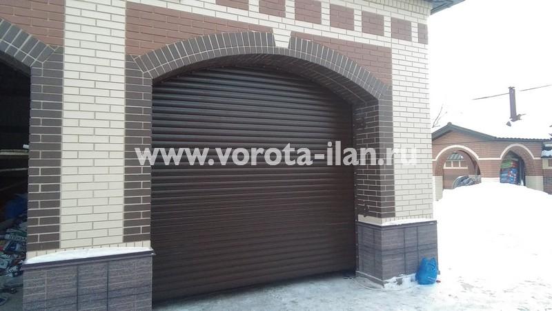 Рольворота гаражные коричневые_фото 3