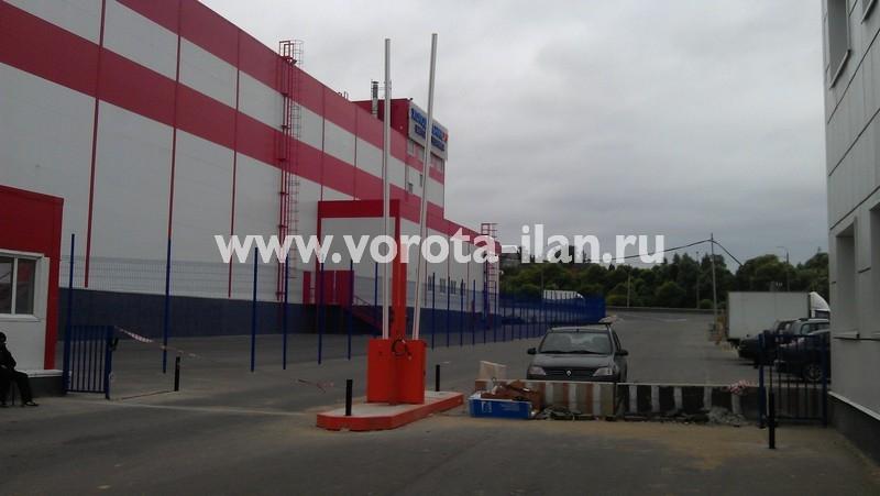 МО_складской терминал Михаиловская слобода_монтаж подъёмного шлагбаума_2