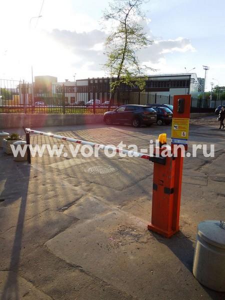 Москва_Новорязанская улица_шлагбаум подъёмный с удалённой диспетчеризацией