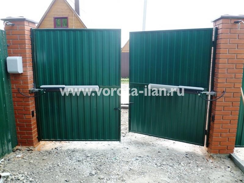 Чеховский район, частный дом, автоматизация распашных ворот заказчика (фото 2)