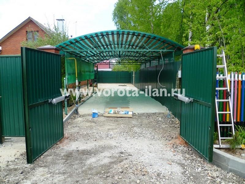 Чеховский район, частный дом, автоматизация распашных ворот заказчика (фото 4)
