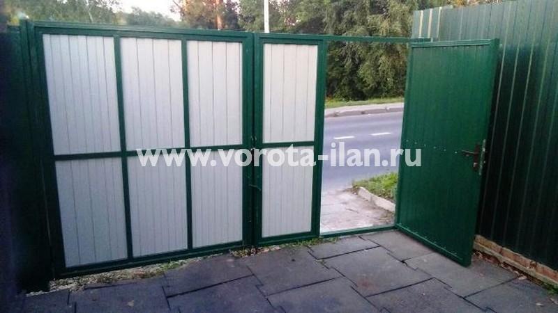 г. Подольск, ул. Беляевская, ворота распашные с калиткой без автоматики, фото 2