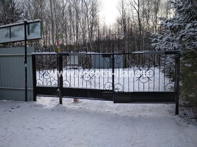 Чеховский район МО_СНТ Шарапова охота_ворота изнутри_привод CAME ATI 5000