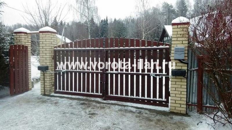 МО_Чеховский район_деревня Талеж_привод CAME на 24 вольт на распашные ворота_1