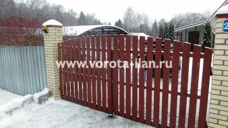 МО_Чеховский район_деревня Талеж_привод CAME на 24 вольт на распашные ворота_3