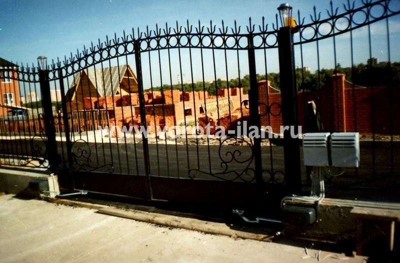Ворота распашные декоративные фигурные_фото 2