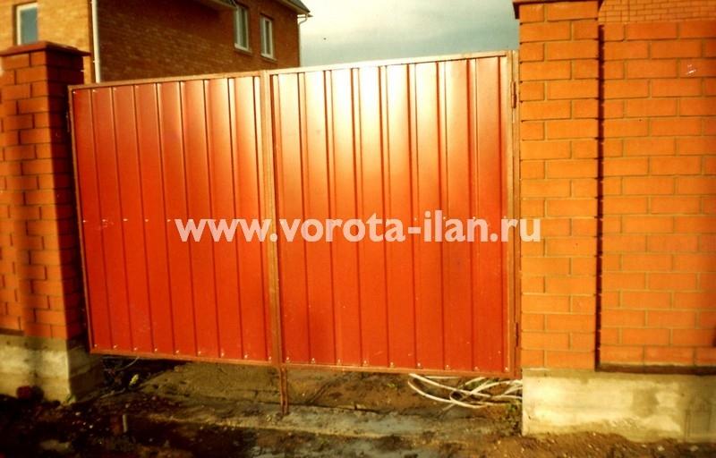 Ворота распашные_рыжие