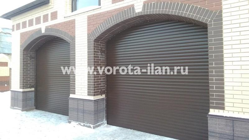 Рольворота гаражные коричневые_фото 1