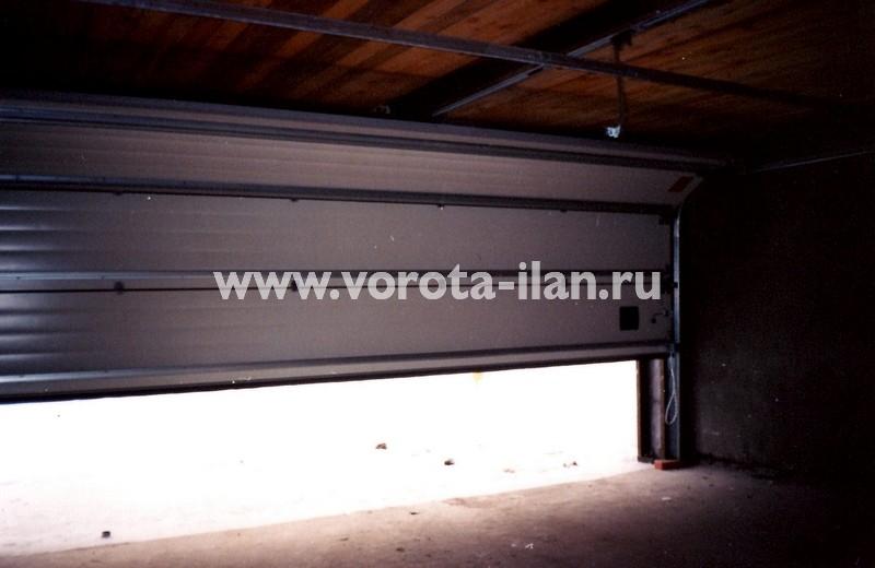 Ворота секционные гаражные_вид изнутри