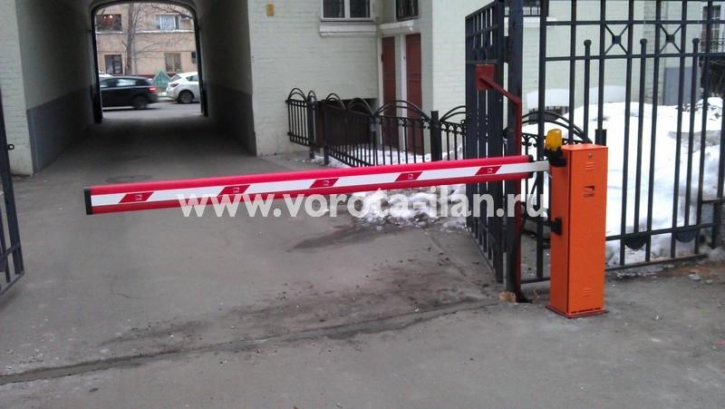 Москва_подъёмный шлагбаум Came G4000